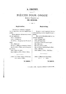 Twenty Pieces for Organ: No.5-8 by Alexis Chauvet