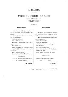 Twenty Pieces for Organ: No.12-14 by Alexis Chauvet