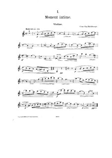 No.1 Moment intime: Solo part by César Cui