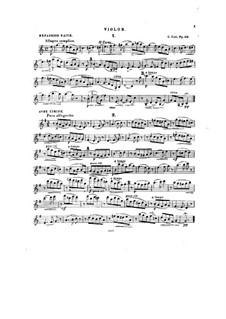Twelve Miniatures, Op.20: No.1-7, for violin and piano – solo part by César Cui