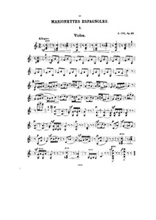 Seven Miniatures for Violin and Piano, Op.39: Solo part by César Cui