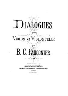 Dialogues for Violin and Cello: Cello part by Benoit Constant Fauconier