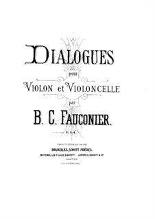 Dialogues for Violin and Cello: Violin part by Benoit Constant Fauconier