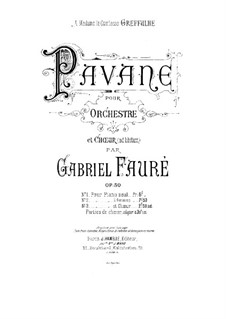 Pavane, Op.50: For piano four hands by Gabriel Fauré