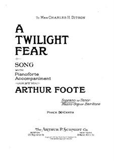 A Twilight Fear: A Twilight Fear by Arthur Foote