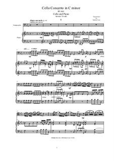 Concerto for Cello and Strings in C Minor, RV 401: Version for cello and piano by Antonio Vivaldi