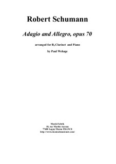 Adagio and Allegro, Op.70: For Bb clarinet and piano by Robert Schumann