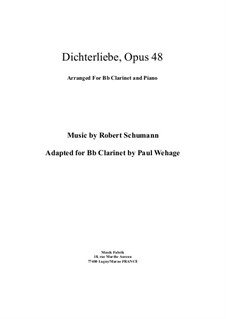 Complete set: For Bb clarinette and piano by Robert Schumann