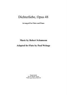 Complete set: For flute and piano by Robert Schumann