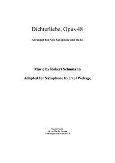 Complete set: For alto saxophone and piano by Robert Schumann