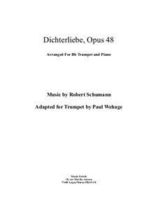 Complete set: For Bb trumpet and piano by Robert Schumann