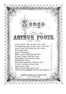 Three Songs, Op.10: No.3 Milkmaid's Song by Arthur Foote