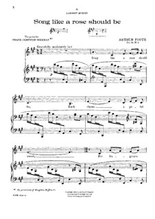 Five Songs. No.3 Song Like a Rose Should Be, Op.72: Five Songs. No.3 Song Like a Rose Should Be by Arthur Foote