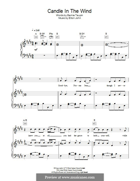 Candle in the Wind: For voice and piano (or guitar) by Ed Sheeran