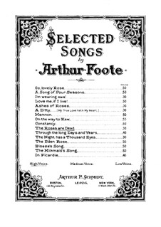 Six Songs, Op.43: No.4 The Roses are Dead by Arthur Foote
