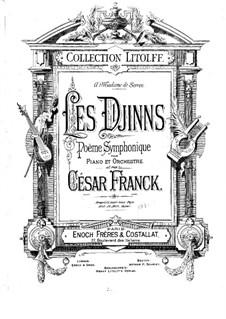 Les djinns, M.45: For two pianos four hands by César Franck