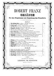 Six Songs. Blätter lässt die Blume fallen, Op.30 No.2: Six Songs. Blätter lässt die Blume fallen by Robert Franz