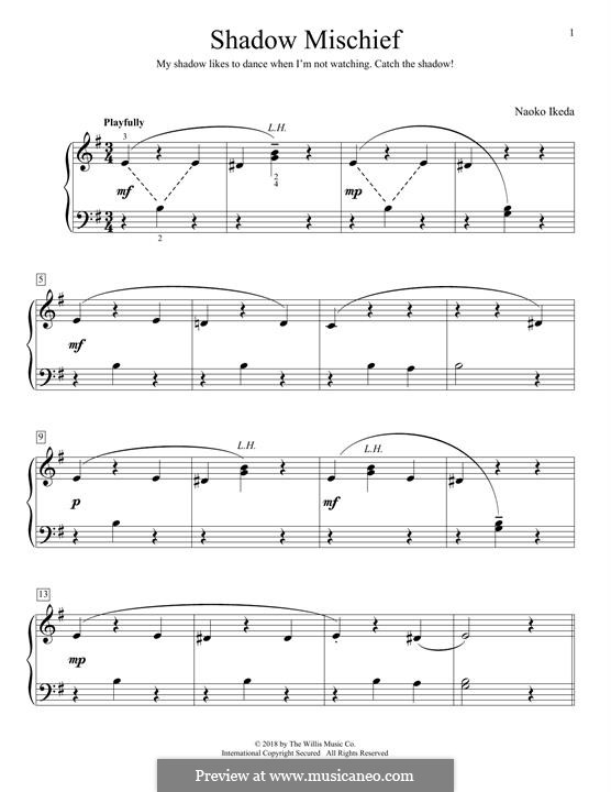 Shadow Mischief: For piano by Naoko Ikeda