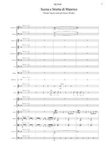 Fragments: Scena e Stretta Manrico (H-dur) by Giuseppe Verdi
