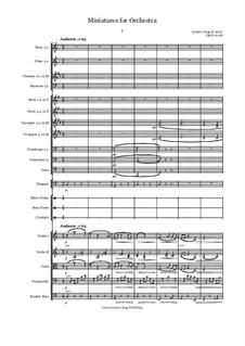 Miniatures for Orchestra: Miniatures for Orchestra by Jordan Grigg