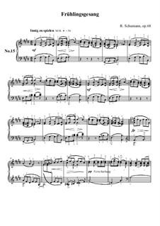 No.15 Frühlingsgesang (Spring Song): No.15 Frühlingsgesang (Spring Song) by Robert Schumann