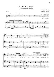 E l'uccellino: E l'uccellino by Giacomo Puccini
