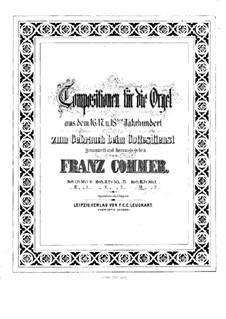 Compositions for Organ: Book VI by Girolamo Frescobaldi, Giacomo Carissimi, Franz Xaver Murschhauser, Johann Speth