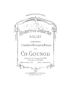 Romeo et Juliette (Romeo and Juliet): Ballet, for Piano Four Hands by Charles Gounod