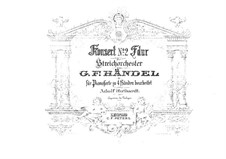 Concerto Grosso No.2 in F Major, HWV 320: For piano four hands by Georg Friedrich Händel