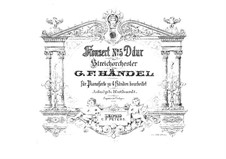 Concerto Grosso No.5 in D Major, HWV 323: For piano four hands by Georg Friedrich Händel