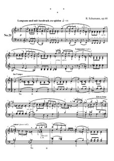 No.21: For piano by Robert Schumann