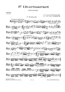 Two Divertissements: No.1-2. Version for cello and piano – cello part by Joseph Haydn