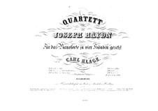 String Quartet No.58 in F Major, Hob.III/73 Op.74 No.2: Version for piano four hands by Joseph Haydn