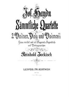 String Quartet No.43 in G Major, Hob.III/58 Op.54 No.1: Violin I part by Joseph Haydn