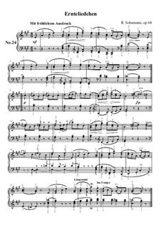 No.24 Ernteliedchen (Harvest Song): No.24 Ernteliedchen (Harvest Song) by Robert Schumann