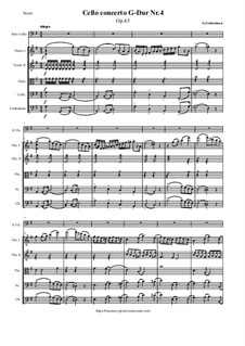 Cello Concerto No.4 in G Major, Op.65: Score and parts by Georg Goltermann