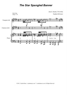 The Star Spangled Banner (National Anthem of The United States): For clarinet choir by John Stafford Smith