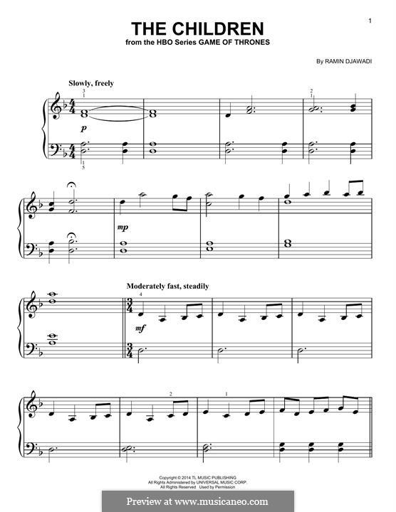 The Children: For piano by Ramin Djawadi