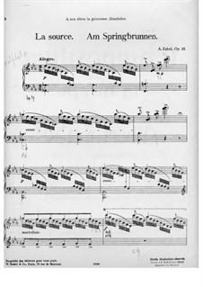 La source, Op.23: For piano by Albert Zabel