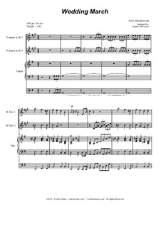 Wedding March: Duet for Bb-trumpet by Felix Mendelssohn-Bartholdy