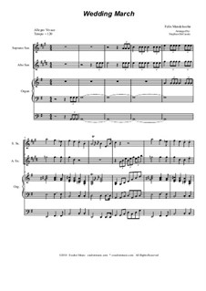 Wedding March: Duet for soprano and alto saxophone by Felix Mendelssohn-Bartholdy