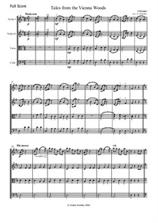 Tales from the Vienna Woods, Op.325: For string quartet by Johann Strauss (Sohn)