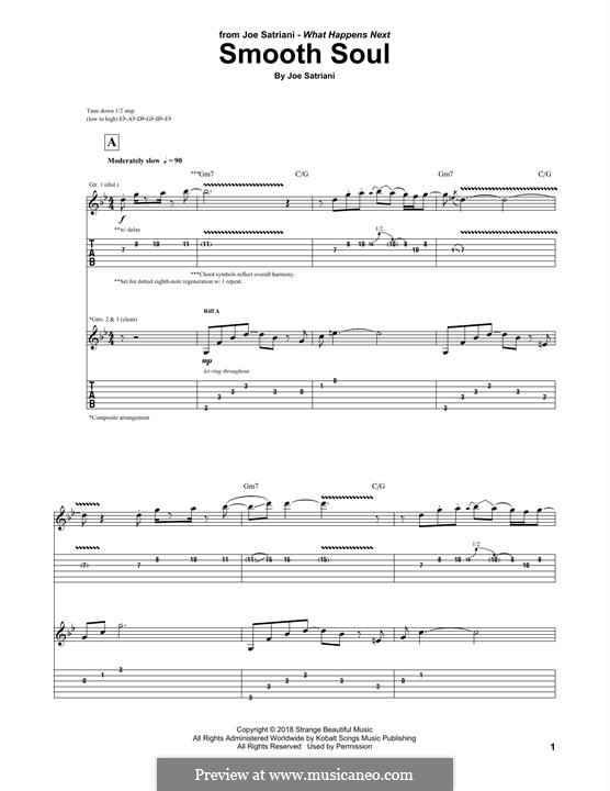 Smooth Soul: For guitar with tab by Joe Satriani