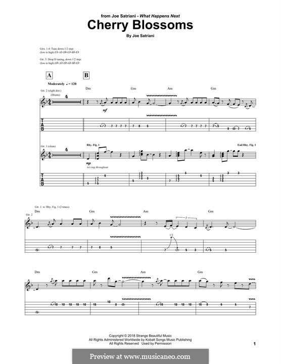 Cherry Blossoms: For guitar with tab by Joe Satriani