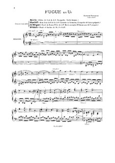 Fugue for Organ in C Major, BuxWV 174: For a single performer by Dietrich Buxtehude