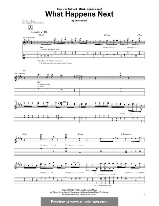 What Happens Next: For guitar with tab by Joe Satriani