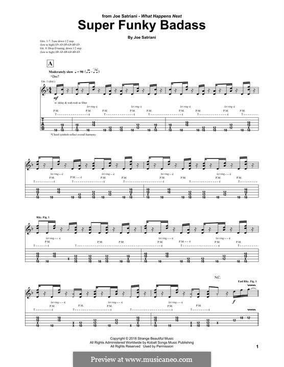 Super Funky Badass: For guitar with tab by Joe Satriani