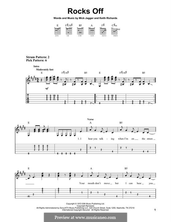 Rocks Off (The Rolling Stones): For guitar with tab by Keith Richards, Mick Jagger