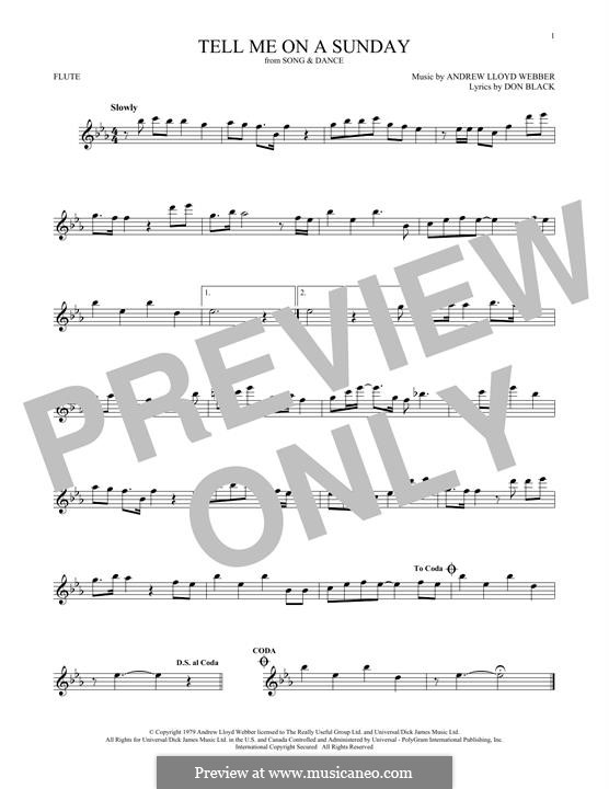 Tell Me on a Sunday: For flute by Andrew Lloyd Webber