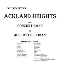 Ackland Heights for Concert Band: Ackland Heights for Concert Band by Jeremy Corcoran